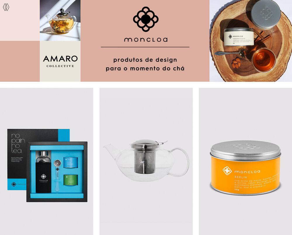PRODUTOS:  Moncloa kit de chás fit ,  Moncloa bule de vidro com infusor para chá 1200 ml,   Moncloa base infusão de frutas.