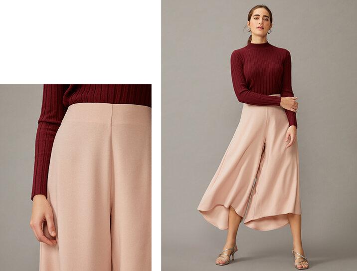 PRODUTO:  calça pantacourt ampla crepe .