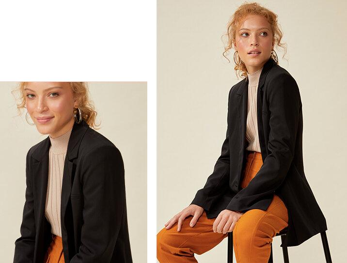 PRODUTOS:  blazer alfaiataria manga com abertura