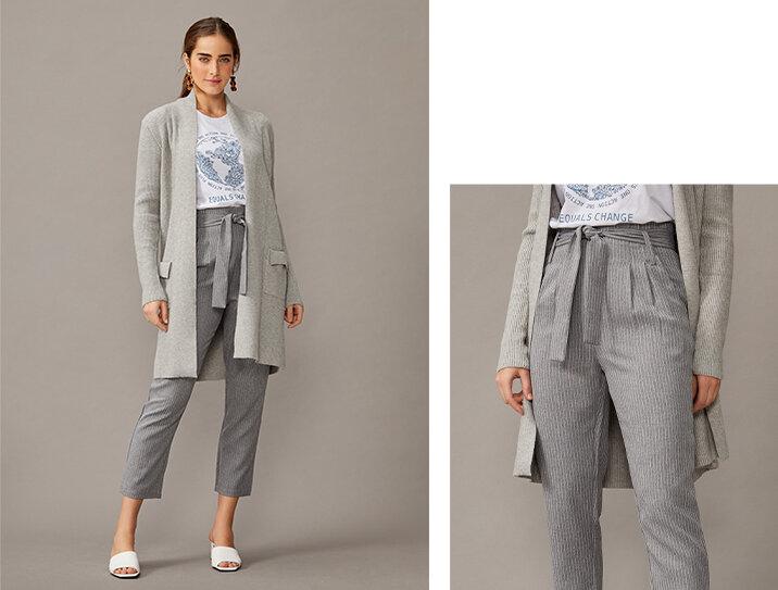 PRODUTO:  calça slim alfaiataria cinto amarrado .