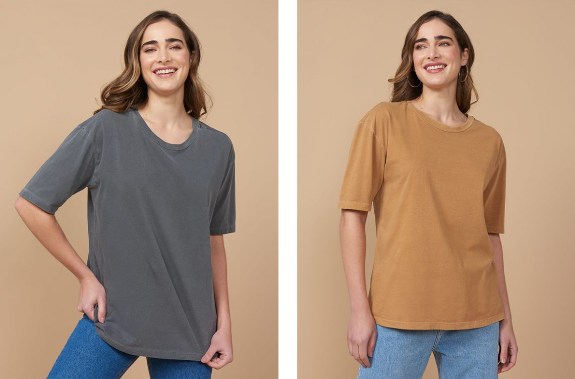 Camiseta estonada feminina