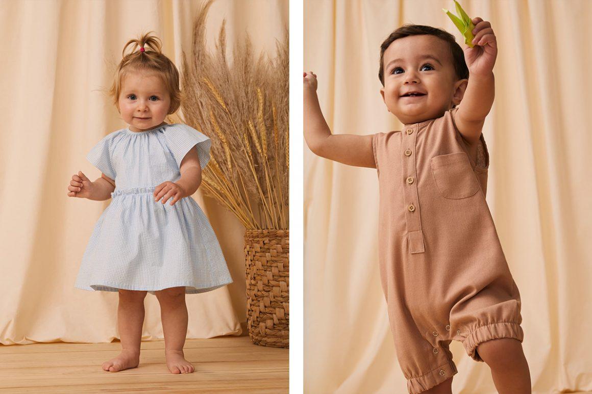 Vestido infantil e macaquinho infantil