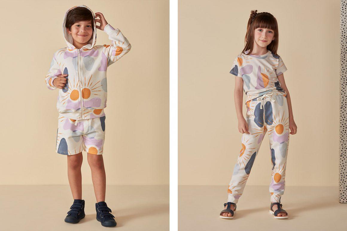 Jaqueta de moletom infantil  e calça de moletom para criança