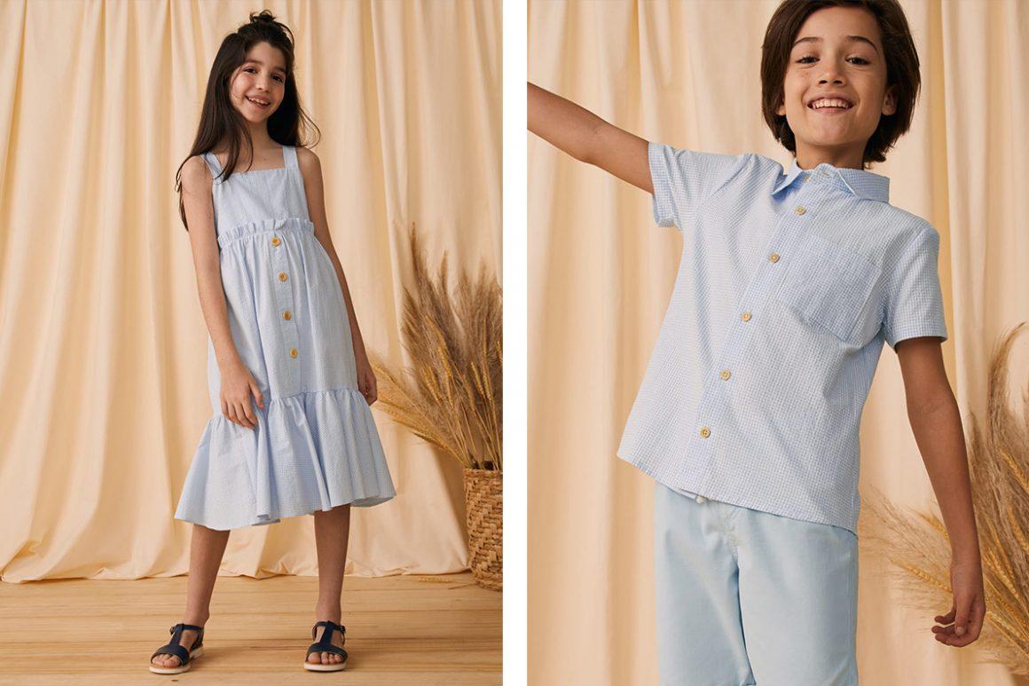 Vestido infantil e camisa infantil